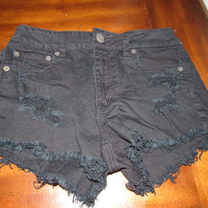American Eagle Distressed Stretch Jean Shorts 4